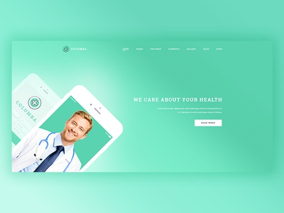 Coumba Medical App Landing Page