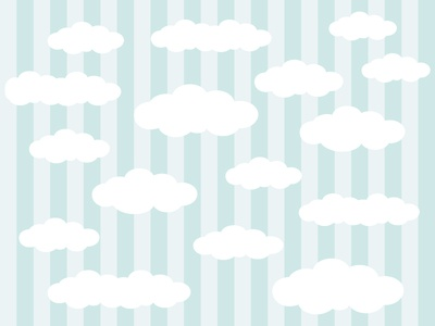 The Clouds In The Background Vector Illustration