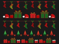 New Year  Christmas Background  Greeting Card
