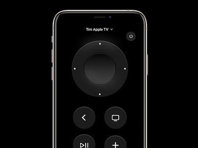 Apple TV Remote app figma exploration tvos tv remote apple