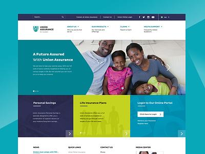 Corporate Website Mockup mockup blue green website lemon nigeria insurance business sketch responsive landing page homepage