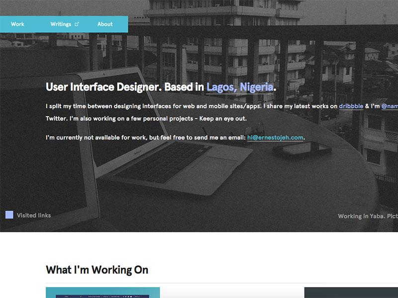 Ernest ojeh   user interface designer