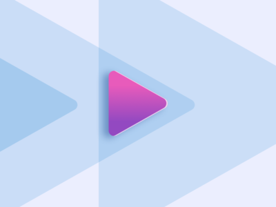 Play triangle purple play button play