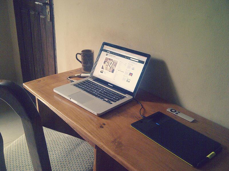 My boring workspace home workspace my room mac wacom