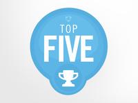 Top 5 Badge