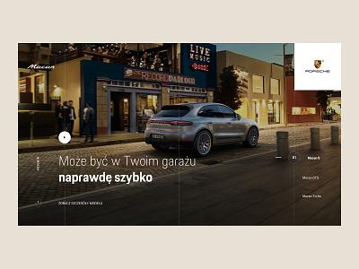 Porsche Macan macan germany car minimal design ui ux homepage landing page porsche