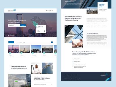 Rega - Digital platform platform saudi arabia charts trends indicators real estate minimal homepage design ux ui