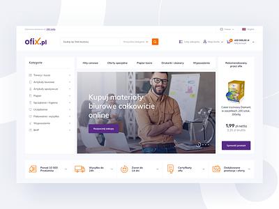 Ofix - ecommerce listing product ecommerce design online shop shop ecommerce platform homepage minimal design ux ui