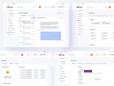 Ofix Account website desktop dashboard promotion profile message management web account shop ecommerce minimal design ux ui