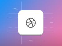 Dribbble Icon dribbble icon rebound app ios iphone pixel perfect