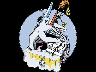 Tiempo escurrido animation vector draw illustration