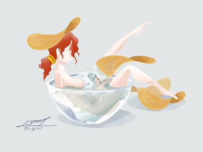 Creamy Girl procreate digital art draw design illustration