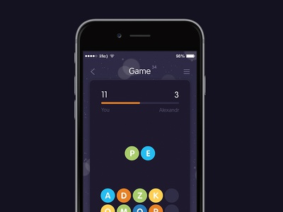 New game game wip flat ios words color play