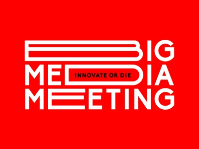Big Media Meeting  poster orange conference festival ukraine typography typo