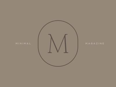 Minimal Magazine logo magazine logo m monogram typo logo minimal