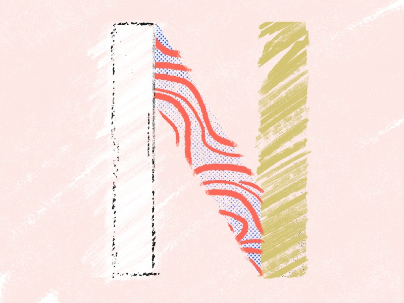 36 days of type N daily type letter illustration 36days 36daysoftype challenge