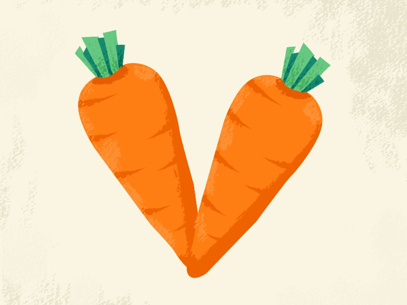 36 days of type V letter illustration type 36daysoftype 36days challenge carrot