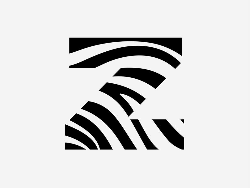 36 days of type Z zebra illustration type letter 36daysoftype challenge 36days