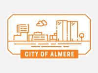 Sticker for Almere, NL