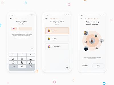 Skippit App - Onboarding gender onboarding mobile clean ux ui date skippit dating ios app design