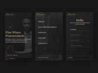 Martins Wine Advisor - Mobile wines wine logo website landing mobile web ux ui clean branding luxury design