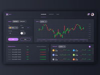 Cryptocurrency Exchange Platform ethereum ripple xrp bitcoin landing website web platform dashboad clean design ux ui fintech finance trading exchange cryptocurrency crypto