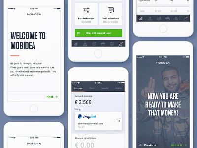 Mobidea App design olamobile android ios user payment paypal money mobidea ux ui mobile app