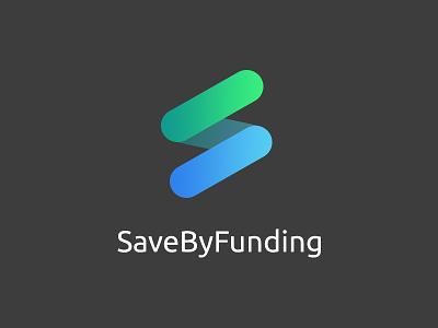 Save By Funding - Logo solidarity design identity crowdfunding platform branding logo