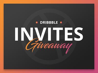 2x Dribbble invites invitation invite poster design giveaway invites dribbble