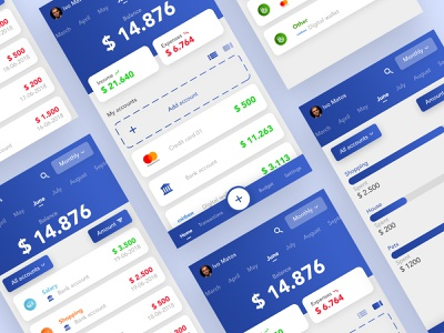 Budget Planner - App finance fintech figma sketch icon modern payments money budget typography mobile web ios clean app android branding ux ui design