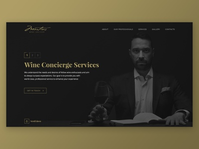 Martins Wine Advisor - Website luxury typography desktop mobile logo website landing web clean branding ux ui design wine