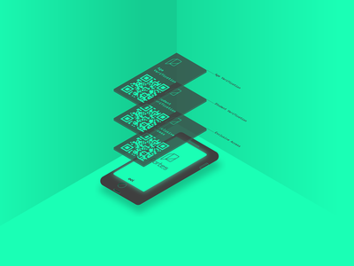 Portes app basic DIIDs vector design ui app design ux design ux product product design portes ios authentication cryptography app anonymity