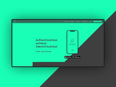 Portes app website branding app design ux design ux ui product design product portes ios design cryptography authentication app anonymity