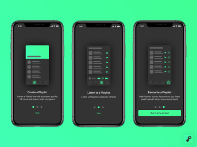 Origen playlist app on-boarding how to on boarding branding ux design product design ios ux ui design app