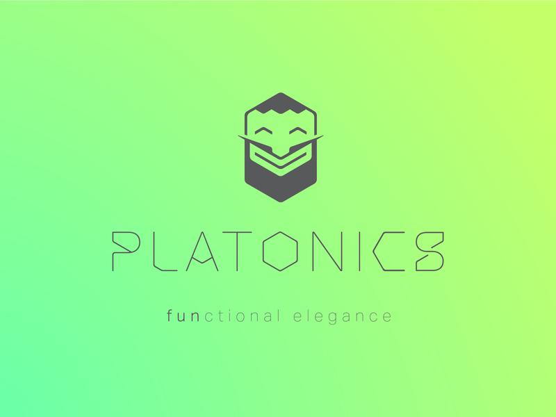 Platonics Logo custom fonts custom font elegance brand and identity furniture brand vector branding logo