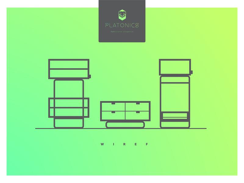 Platonics Wiref series poster poster logo platonic platonics furniture product design product ux design