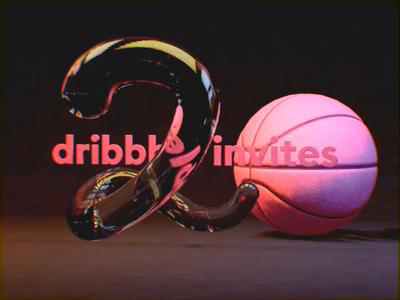 2 silky smooth dribbble invites [Closed] drafting draft cinema 4d animated motion dribbble c4d invites invite