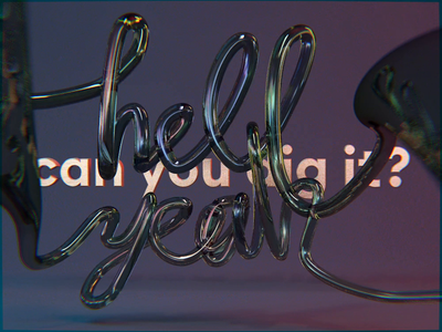Well, can you? animated type type cinema 4d c4d handmade font custom font animation motion design motion blur motion typography