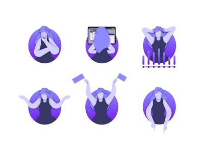 Seque illustration concepts ux ui app seque explanatory vector illustration illustrations