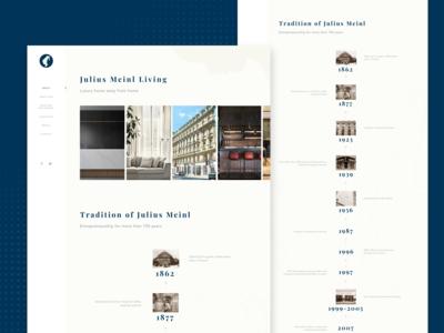 Julius Meinl Living Website Design