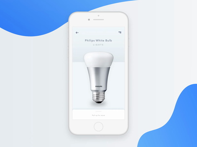 Philips White Bulb - Smart App Design