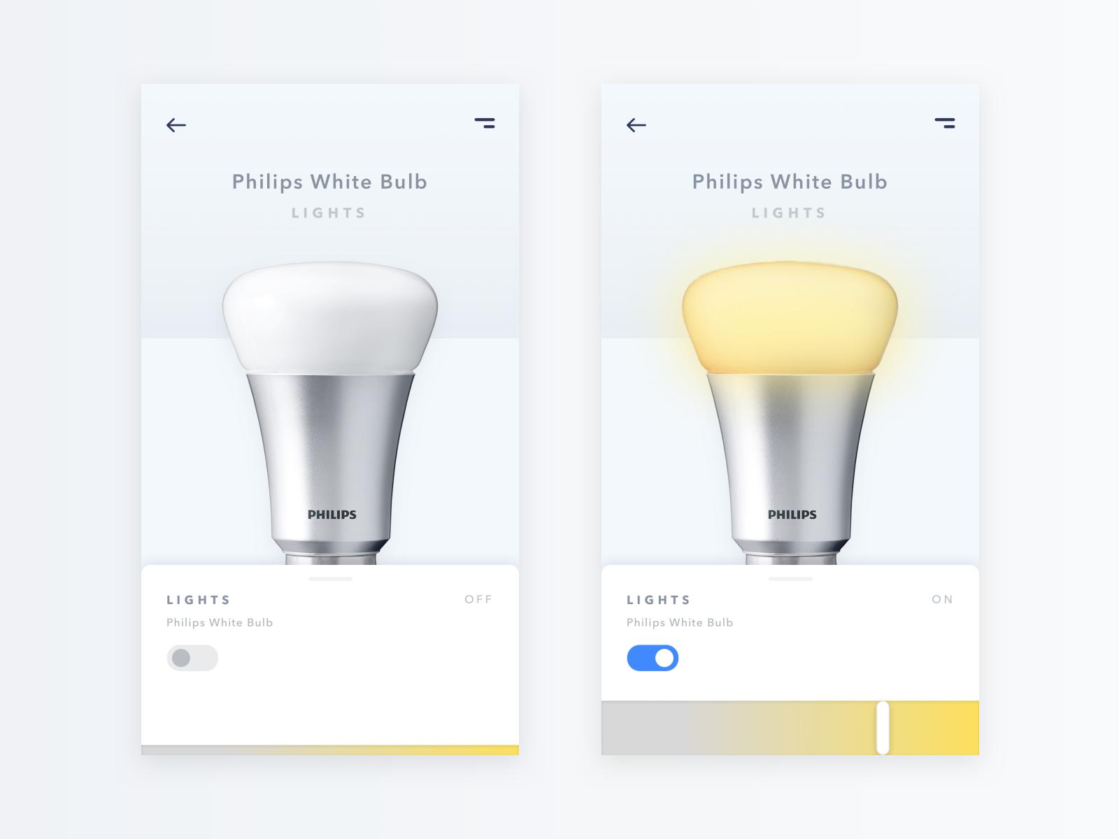 Philips White Bulb - Smart App Design by Nikola Vukojicic on