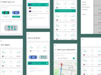 KiwiCab App UI/UX Design