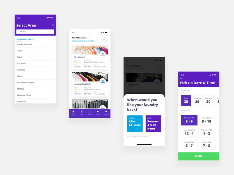 On Demand Laundry App Concept