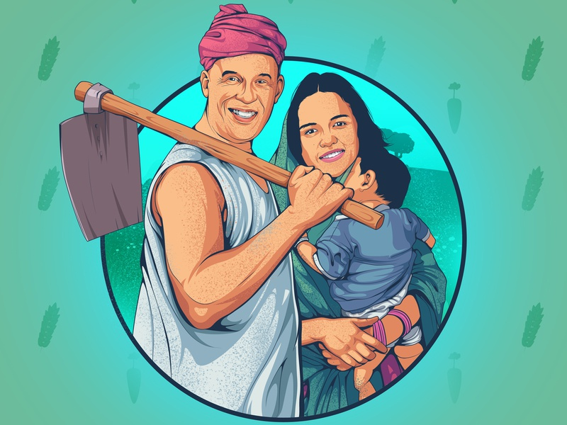 Vinod And Mishli typography vin diesel color character designs character design indian culture character concept character art aman rajwansh rajwansh art branding vector photoshop indian illustrator illustration desi kalakaar design art