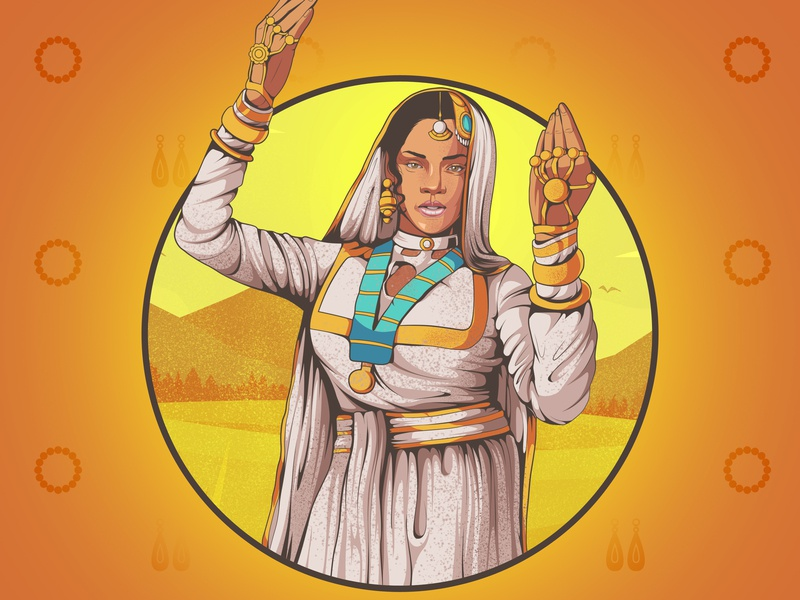Rihanvati indian cartoon rihana indian rihana character design indian culture character concept india character art aman rajwansh rajwansh art vector photoshop indian illustrator illustration desi kalakaar design art