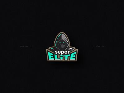 Super Elite logo dark logo masked man logo icon character art logo illustrator vector rajwansh art ui branding illustration design