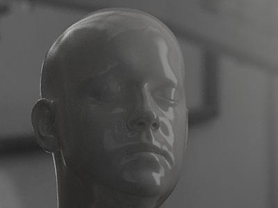 [wip_02] porcelain sculpt zbrush model porcelain skull skin head face rendering render 3d
