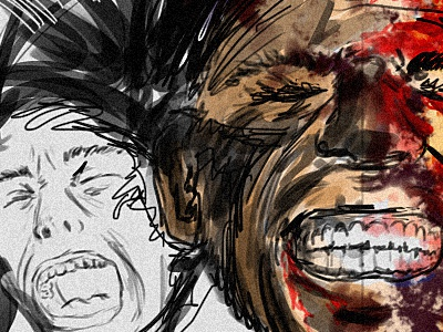 pain traditional painting drawing art wacom digital photoshop pain conceptual expression emotion brush