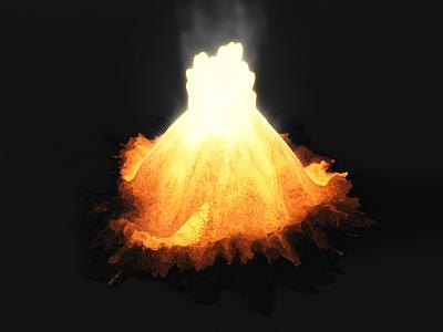 lava sim [still] shader heat glow particle simulation sidefx houdini visual effects simulation lava